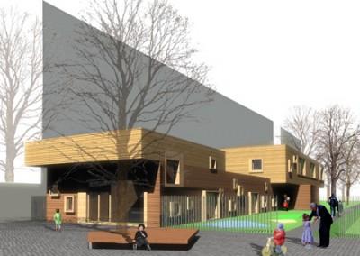 Kinder- & Familienzentrum Neukölln Wettbewerb 2.Preis