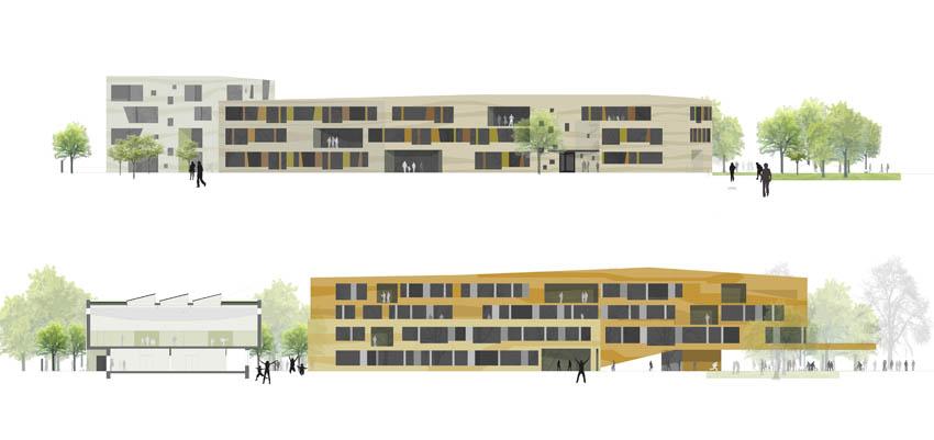 Campus Waldorf, Schöneberg Wettbewerb 2. Preis